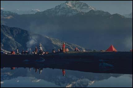 Snapshot of mountain lake